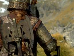 LOTR Gimli's back view